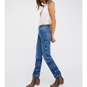 Free People Heirloom My Thai Tribal Jeans Levi's